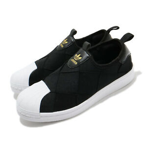 adidas-Originals-Superstar-Slip-On-W-Black-White-Gold-Women-Casual-Shoes-FV3187
