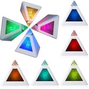 Reveil-Numerique-Lumineux-Change-de-Couleurs-Affichage-LCD-Temperature-Alarme