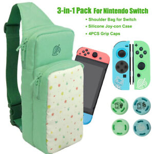 Animal-Crossing-Carrying-Bag-Joy-con-Silicone-Case-Grip-Caps-For-Nintendo-Switch