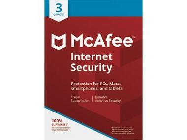 McAfee Internet Security 2018 - 3 Device / 1 Year