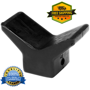 Tie-Down-Boat-Trailer-Black-Rubber-3-034-Bow-V-Stop-1-2-034-hole-Shaft-Y-Winch-Mount