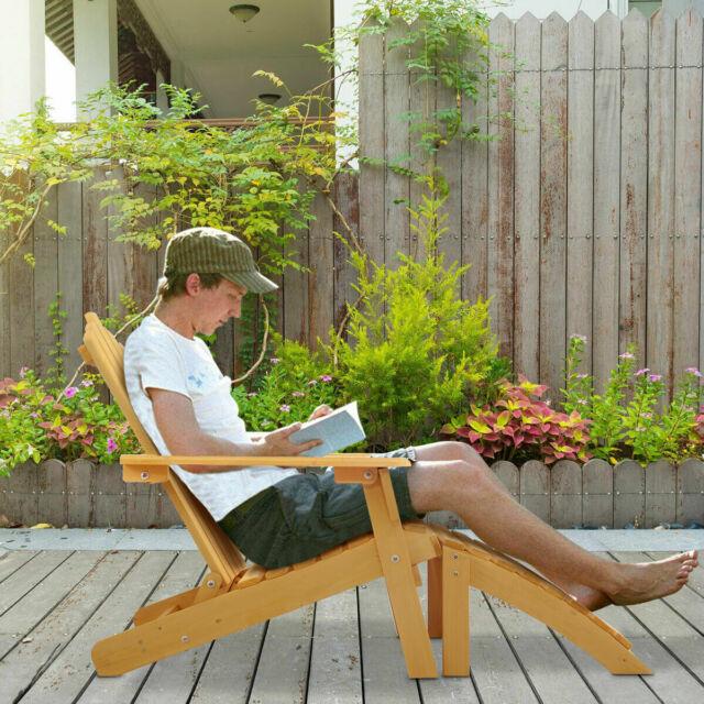 Silla De Madera De Abeto Para Jardin Patio Terraza Muebles Para Jardín Y Patio