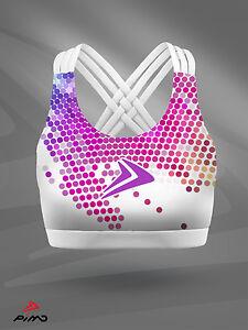 PIMD white Rainbow SPORTS Top-running Yoga Esercizio Fitness Palestra Crop da donna  </span>