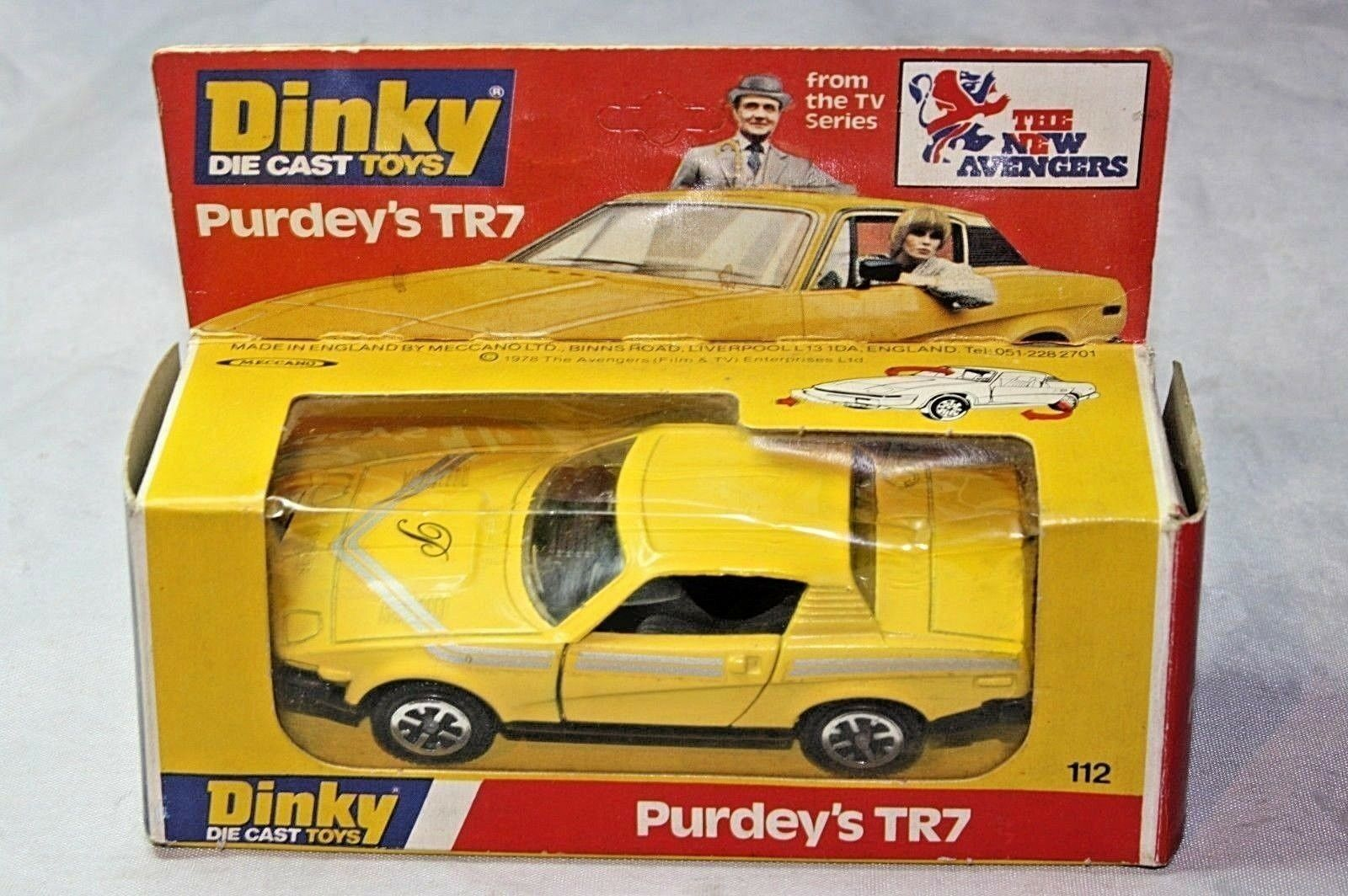Dinky 112 Purdey's (New Avengers) TR7, Mint in Excellent Original Box