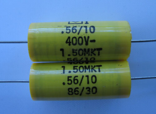 10 polyester capacitors .56uF 400V volt Genuine Mallory Type 150