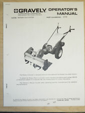 GRAVELY ROTARY CULTIVATOR OPERATOR'S MANUAL PART #22162