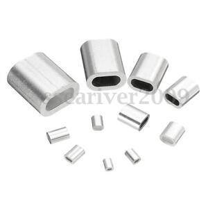aluminum oval sleeve crimp ferrule swage clamp parts 0 5 6mm 11 sizes ebay. Black Bedroom Furniture Sets. Home Design Ideas