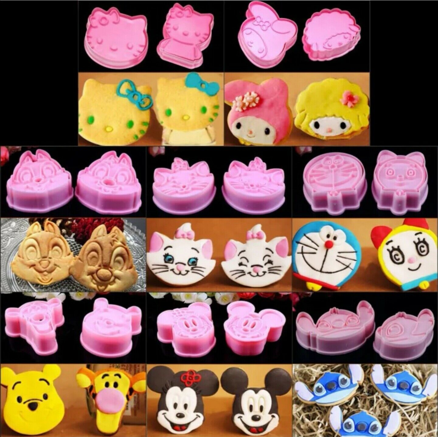 Mickey Fondant Cake Sugarcraft Baking Biscuit Cookie Cutter Tool Cartoon Mold