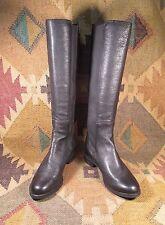 $$$ Cole Haan Nike Air Jodhpur Black Leather Knee High Boots  size USA -7B