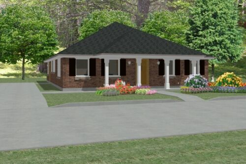 Custom House Home Building Plans 3 bed Ranch 1748 sf--- PDF file