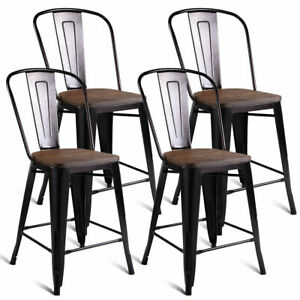 Remarkable Details About Copper Set Of 4 Metal Wood Counter Stool Kitchen Dining Bar Chairs Rustic New Pdpeps Interior Chair Design Pdpepsorg