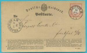 Deutsches-Reich-1872-MiNr-14-auf-Postkarte-gestempelt-Leipzig-nach-Frankfurt
