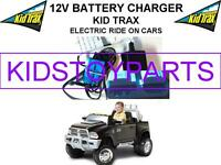 12 Volt Battery Charger For The Kid Trax Dodge Ram Dually W/large Blue Plug