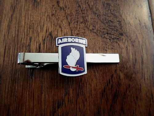 U.S MILITARY 173rd AIRBORNE DIVISION TIE BAR TIE TAC MADE IN THE U.S.A