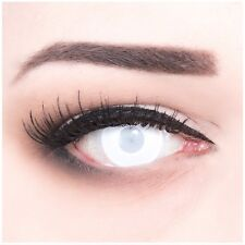Coloured Contact Lenses Blind White Contacts Color Carnival + Free Case