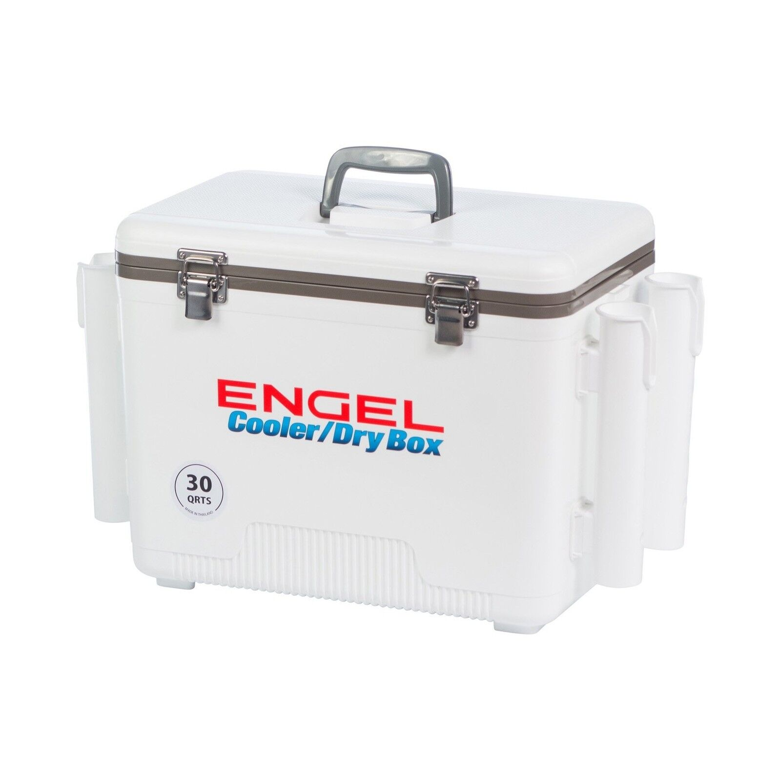 ENGEL USA Cooler Dry Box 30 Quart White with 4 Rod Holders Free Shipping