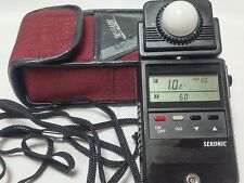 [Excellent++++]Sekonic L-458 Light Meter Ambient and Flash w/Case from Japan 19#
