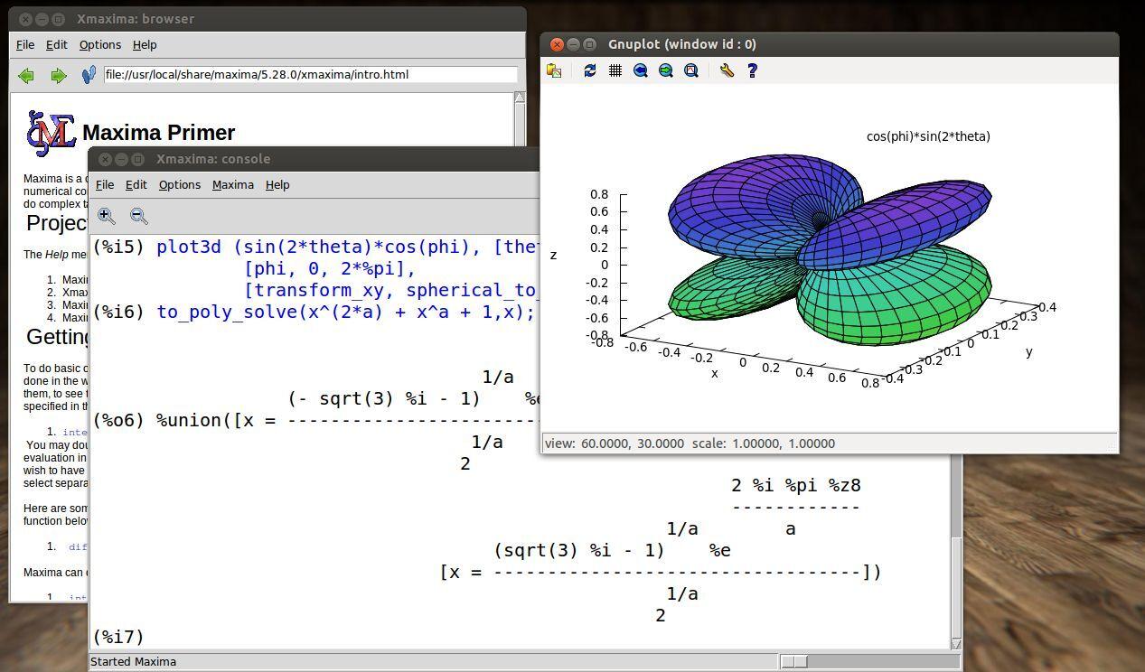 Maxima Algebra Trigonometry And Calculus Math Software For