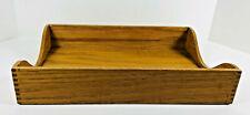 Vintage Wooden Paper Tray Letter Holder File Box Office Desk Organizer Dovetail
