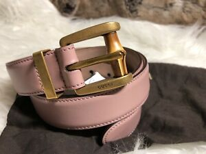 f5e4a6c16 Image is loading NWT-Authentic-Gucci-Ladies-Pink-Leather-Belt-With-