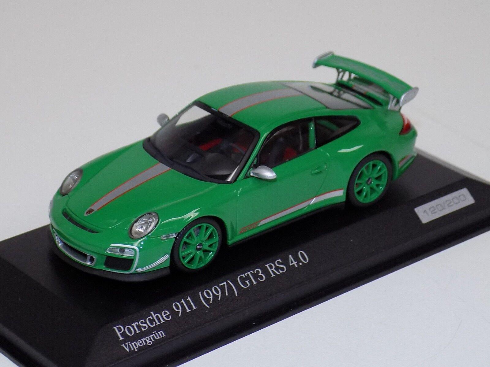 1   43 minichamps Porsche 911 (997) gt3 RS 4.0 verde ca04316053