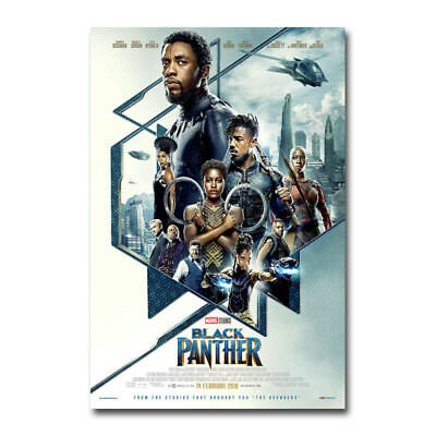 "Black Panther 2018 Movie Poster Silk Print 13x20/"" 20x30/"" 24x36/"""