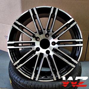 21 Quot Split 10 Spoke Machined Black Wheels Fits Porsche