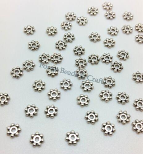 8 un plata tibetana color 2 lados patrón espaciador granos G1160