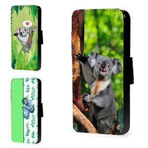 Koala-Phone-Case-Cute-Animal-Wildlife-leather-wallet-flip-card-mobile-case-cover