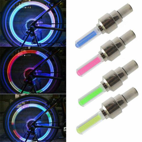 1-4 Pcs Valve Stem LED Cap for Bike Bicycle Car Motorcycle Wheel Tire Light Lamp
