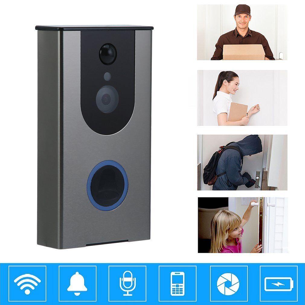 Wireless Remote DoorBell Ring WiFi Visual PIR IR Night Vision Camera Phone BE