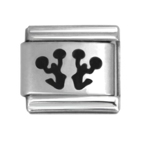 Laser Italian Charms 9mm Stainless Steel Bracelet Link Charm Collection2