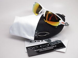 003d5be240 Authentic Oakley Flak 2.0 XL OO9188-19 Polished White w Fire Iridium ...