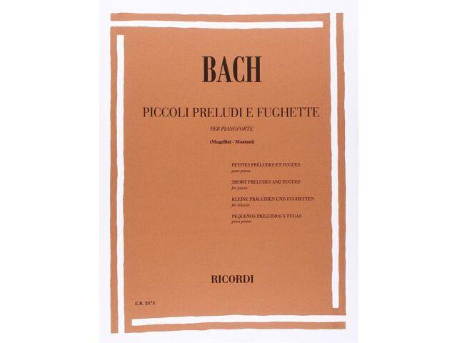 Piccoli Preludi e Fughette per pianoforte ed Ricordi BACH