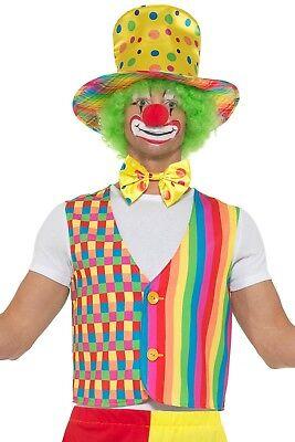 Smi Herren Kostüm Clown Weste Fliege Hut Karneval Fasching