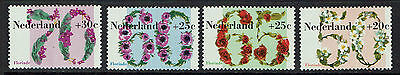 "Intellective Netherlands 1982 #1262-1265 Mnh ""flowers"" E211f With Traditional Methods Europe Netherlands & Colonies"