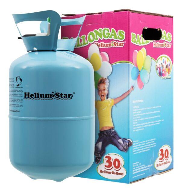 Helium Marken Ballongas HeliumStar Einwegflasche für bis zu 30 Ballons Party