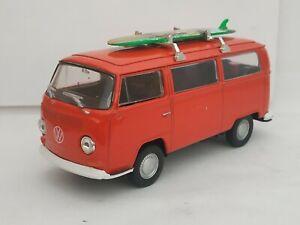 1-34-VOLKSWAGEN-VW-BUS-T2-SURF-FURGONETA-COCHE-METAL-A-ESCALA-SCALE-DIECAST-1-32