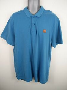 MENS-BENCH-CLASSIC-BLUE-BUTTON-UP-SHORT-SLEEVED-CASUAL-POLO-SHIRT-UK-2XL-2XLARGE