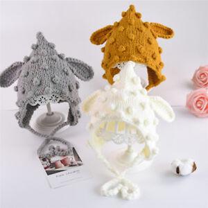 Kid Baby Girl Boy Toddler Winter Warm Knitted Beanie Ear Hat Caps Earmuffs S