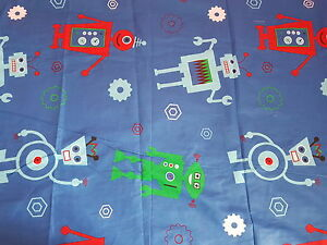 KIDS-CHARACTER-DUVET-SET-WITH-FITTED-SHEET-ROBOT-SINGLE-NEW