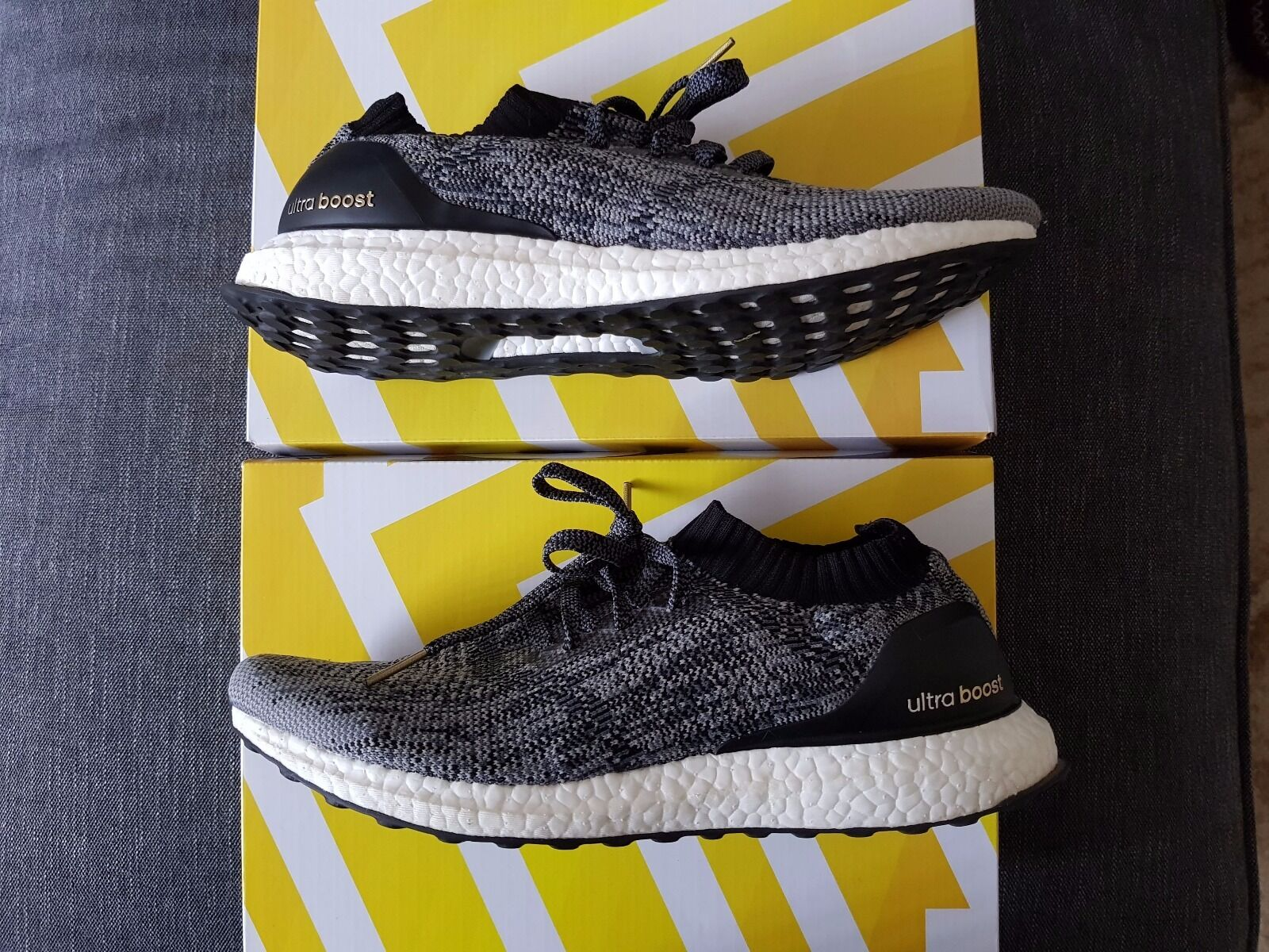 adidas Mens Ultra Boost Uncaged Core Black Size US11.5 BB3900