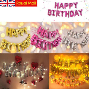 Self-Inflating-Happy-Birthday-Banner-Balloon-Bunting-Gold-Silver-Letters-Foil