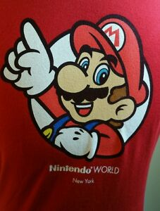 3d1fa859b98bb Super Mario Bros NES Nintendo World new York Tshirt Red Girls ...