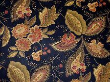 1.375 YD Mill Creek BLACK OLIVE GREEN Jacobean Floral Home Decor Drapery Fabric