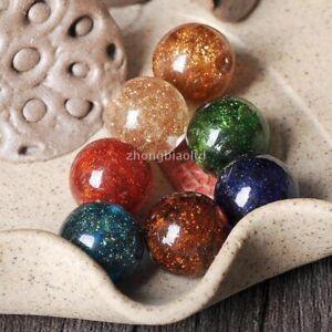 12mm-Gold-Foil-Round-Shape-Glass-Loose-Jinsha-Dense-Star-Beads-Jewelry-Making