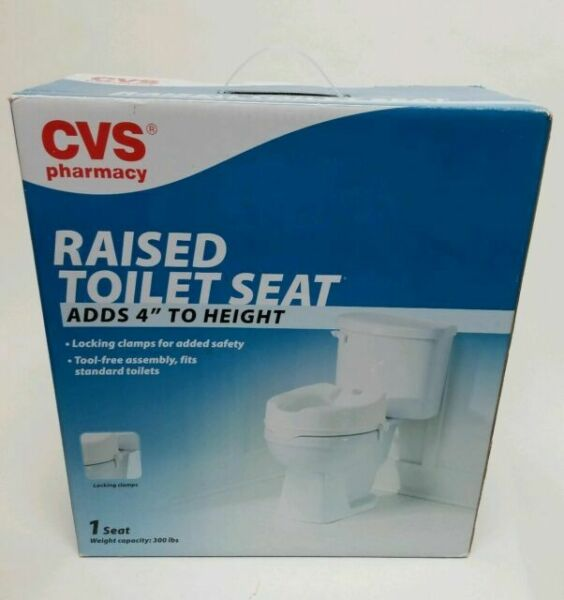 Cvs Pharmacy Raised Toilet Seat Adds 4 To Height 300 Lb Weight