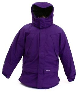 Marmot-Purple-Yukon-Jr-Classic-Down-Hooded-Parka-Young-Men-039-s-Size-NWT