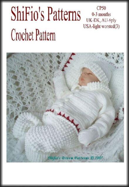 290c0340f5e3 Crochet Pattern Baby Boy Jacket Trousers Hat BOOTIES Blanket  50 Not ...