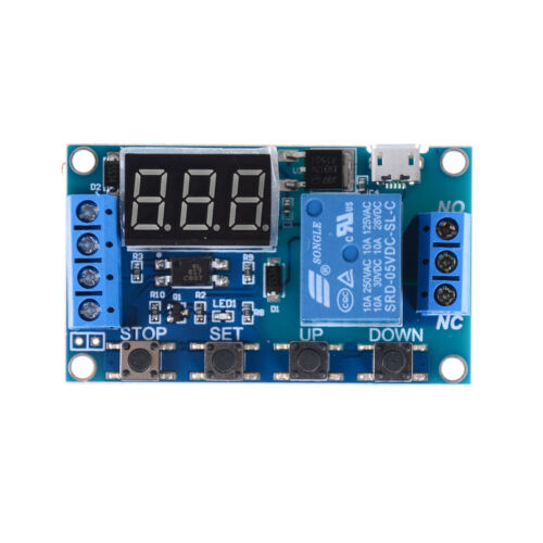 6v-30v Relay Module Switch Trigger Time Delay Circuit Timer Cycle Adjustable WY